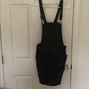 Black denim dress